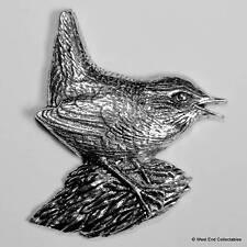 Wren Zinn Brosche - Britisch- Hand Gefertigt - Lied Garten Vogel WRNS