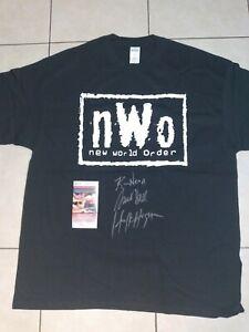 Hulk Hogan Scott Hall Kevin Nash Signed NWO  Shirt JSA COA WWE WCW Autograph HOF