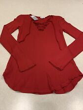 Splendid Women/'s Long Sleeve Shirt Red//White Stripe US Size L NWT