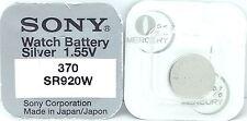 SONY 370 SR920W V370 370 620 Z 280-51 sb-bn SR920W Orologio Batteria