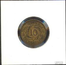 Duitse Rijk Jägernr: 317 1935 Gebieden Aluminium-Brons 1935 10 Reichspfennig Cor