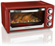 Hamilton Beach 6 Slice Toaster Convection Broiler Baker Oven Red Stainless Steel