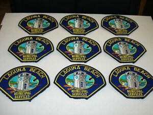 Lot of 9 City of Laguna Beach Municipal Services Patches New Condition