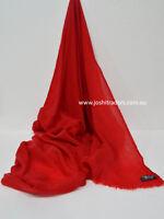 Red Cashmere Scarf Shawl Stole Wrap Throw Pashmina Nepalese Handmade