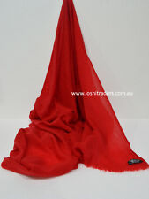 Red Cashmere Scarf Shawl Stole Wrap Throw Pashmina Nepalese Handmade
