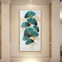 Green Golden Plant Leaf Poster Canvas Print Wall Art Painting Picture Home Decor
