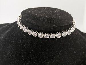 10kt White Gold Filled Tennis Bracelet with Crystal Gemstones #SH GA2332