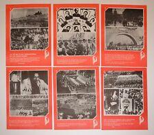 1980 Original Cuban Poster.Socialist art.May First.Six School Office propaganda.