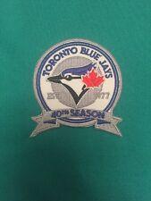 "Toronto Blue Jays 40th Season Jersey Patch 3"" Maple Leaf Silver Iron On Sew On"