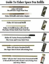2 Fisher SC Series Cross Style Blue Ink Fine Point Ink Cartridges / #SC1F