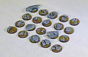 25mm Shattered Rune bases, Sci-fi fantasy by Daemonscape Qty10-50