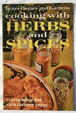 Cooking With Herbs and Spices Cookbook Pamphlet Better Homes & Gardens 1967
