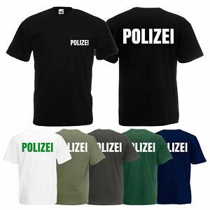 Polizei T-Shirt Herren - Police Shirt - TShirt für Polizei - 100% Baumwolle -