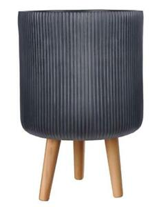 IDEALIST Ribbed Cylinder Indoor Planter with Legs