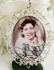 Photo Memory Bouquet Charm Silver Plated Picture Image Custom Personalised Gift
