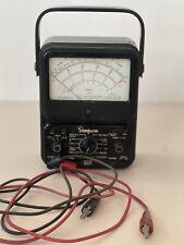 Vintage Simpson 260 Analog Multimeter With Leads Volt Ohm Milliammeter Untested