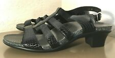 NWOB-SAS Allegro Strappy Heeled Sandal Black Patent Leather Croc$143-10M,10W