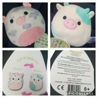 "Squishmallow Flip-A-Mallow 5"" Cow Belana Rosie Pig Flip Easter Basket Fillers"