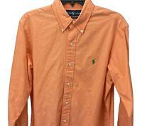 Ralph Lauren Men's Dress Shirt Size M Orange Custom Fit Button Up Top Pre-Owned