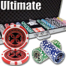 New 600 Ultimate 14g Clay Poker Chips Set with Aluminum Case - Pick Chips!