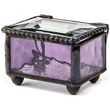 "J Devlin Box 325 2 Mini Purple Stained Glass Jewelry Keepsake Ring 1 4"" X GIFT"