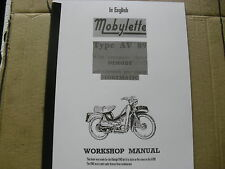Mobylette Moped / AV89 / New Workshop Manual / In English/With Exploded Diagrams