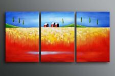 Farmed oil painting on canvas harvest golden fields Ready to hung Last 1