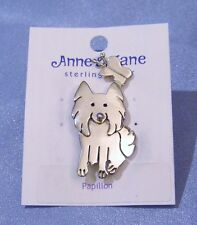 Anne & Jane Sterling Silver Solid 925 Papillion Designer Brooch Pin