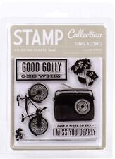 American Crafts Clear Stamps Set ~ Peachy Keen ~ SING ALONG ~ 6ct ~ 59212