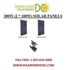 Solar Panel Panneau Solaire PV 200 W 2 * 100 W Poly Watt 12 Volt MC4 RV