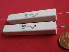 Rare! hochlast résistance 33 ohms 17w ciment 60x10x10mm 2x 23628