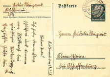 1938 POSTMARKED GERMAN POSTCARD with CORRESPONDENCE