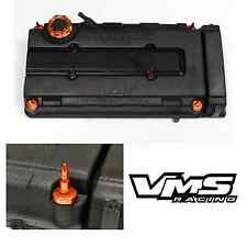 VMS ORANGE ENGINE DRESS UP KIT B16 B18 VALVE COVER INSERT WASHER SEAL BULLET NUT