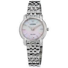 Citizen Eco-Drive Jolie Women's Silver-Tone Bracelet 30mm Watch EM0690-50D