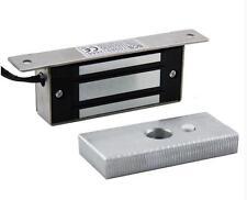 NSEE 12/24V 60KG/132LBS Solenoid Electric Magnetic Door Lock Bracket Swing/Slide