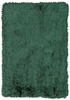 230 Cm x 160 CM Extra Large Heart Home Bliss Rug Emerald Green Deep Pile Indoor