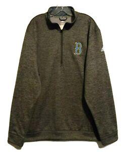 UCLA Bruins Men's Team Issue Adidas Climawarm Gray Quarter Zip Pullover 2XL