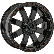 """4-Panther OffRoad 678 20x9 6x135/6x5.5"""" -12mm Gloss Black Wheels Rims 20"""" Inch"""