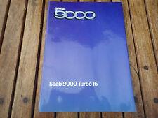 CATALOGUE PUBLICITAIRE ET TECHNIQUE SAAB 9000 TURBO 16  (C2)