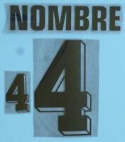 Set Flock Nameset home Trikot jersey shirt Argentinien Argentina 1998