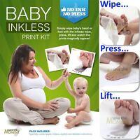 Inkless Wipe Hand & Foot Print Kit - Newborn, Baby, Child Safe Christening Gift
