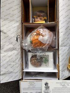 "Danbury Mint PUMPKIN PIE 16"" Porcelain Doll by Elke Hutchens NRFB COA"