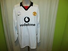 "Manchester United Nike Langarm Auswärts Trikot 2003/04 ""vodavone"" Gr.XL Neu"