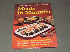 Better Homes and Gardens Meals in Minutes (1973, Hardcover)