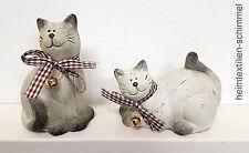Keramik KATZEN Tischdekoration DEKO Porzellandeko Tischdeko Dekoration 2er SET