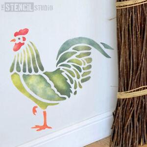Cockerel Chicken STENCIL country farmyard animal stencils. Wall Stencil 10047