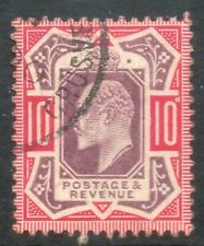 1902 SG254b SPEC M43 (1), 10d  Dull purple and Carmine cds Chalky paper
