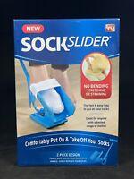 NEW Sock Slider Easy On & Off Kit Shoe Horn Medical For Limited Mobility NIB