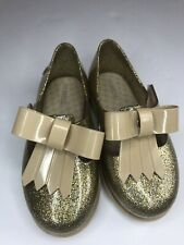 Genuine NEW Mini Melissa Ultragirl Butterfly in  Silver toddler size 5-10