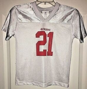 NFL Team Apparel San Francisco #21 Frank Gore Kids Jersey Youth Small SZ 8 White